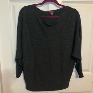 Vince Camuto Charcoal Gray Scoop Neck Sweater